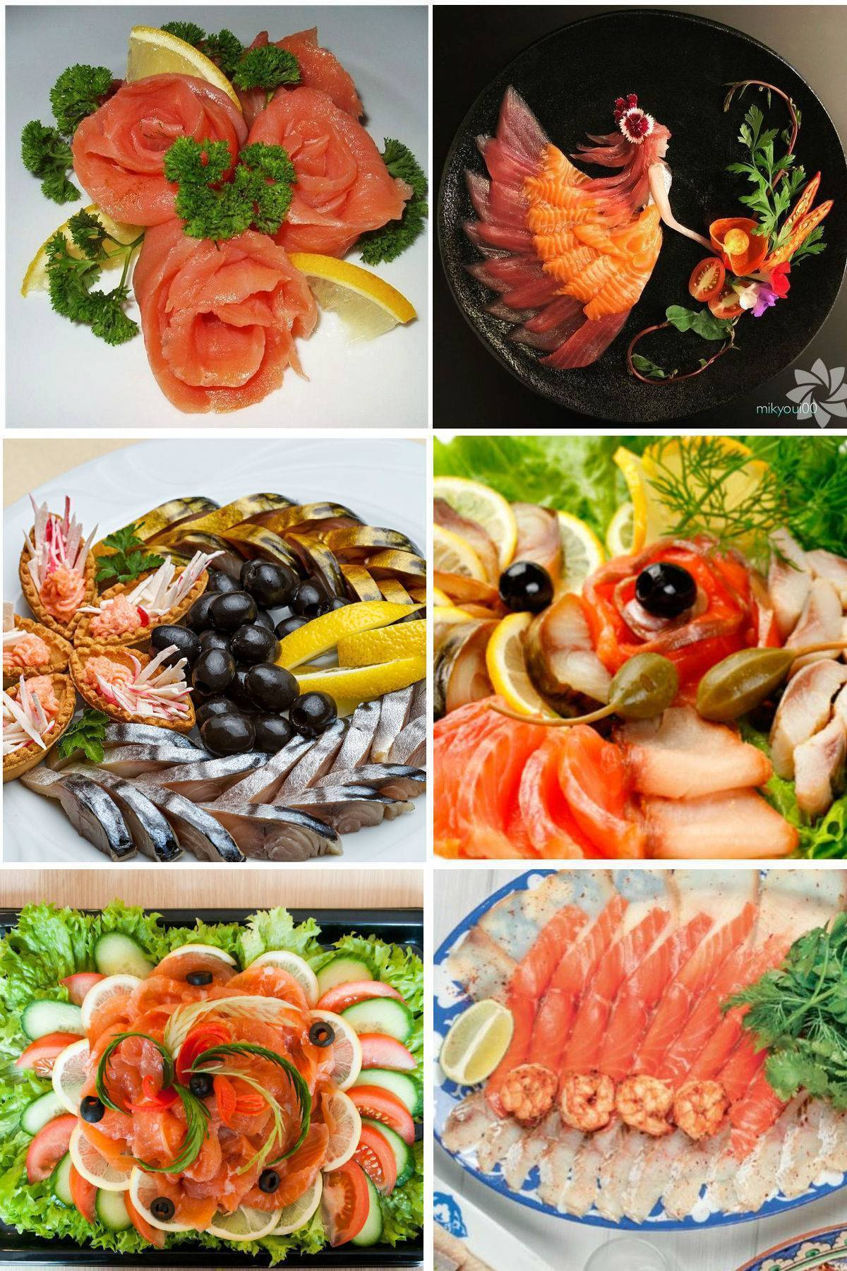 Нарезка красной рыбы на праздничный стол