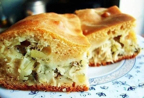 Вкусный заливной пирог - быстрый рецепт на кефире с разными начинками в духовке и в мультиварке