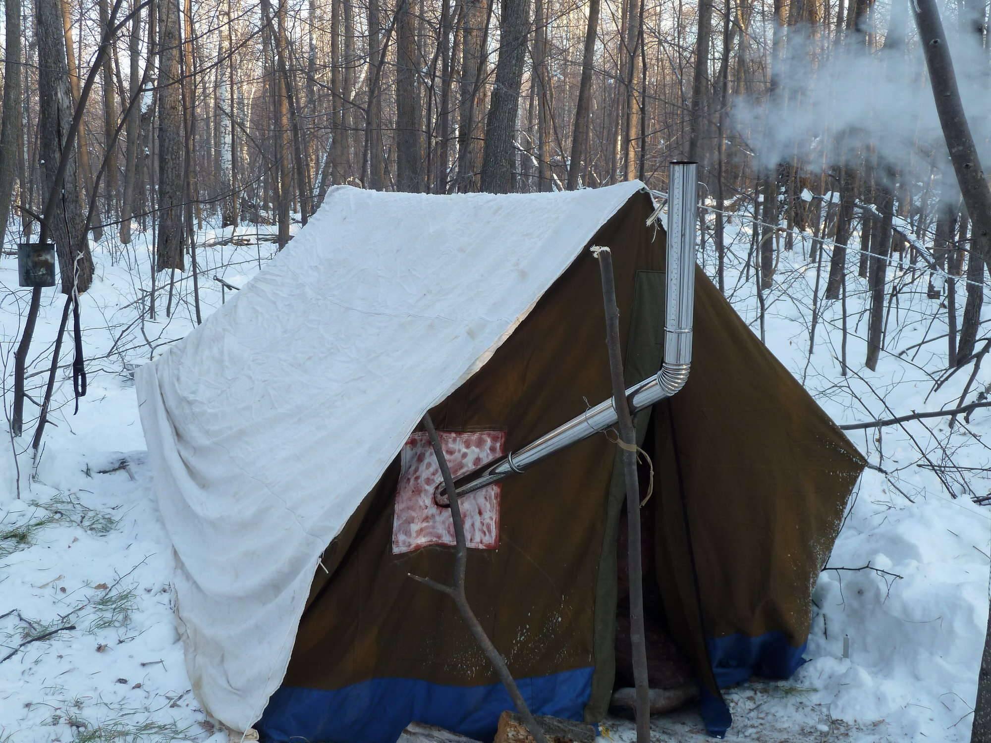 Опытные рыбаки поделились, как они утепляли палатку зимой