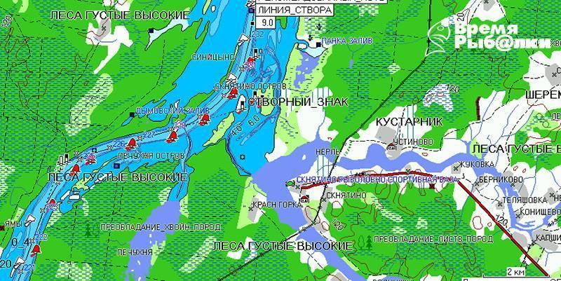 Рыбные места в ярославле и ярославской области