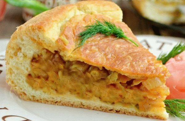 Пирог с капустой и рыбой – 11 рецептов