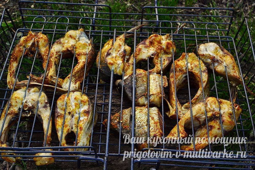 Как замариновать рыбу для жарки на мангале или решетке, маринование для шашлыка