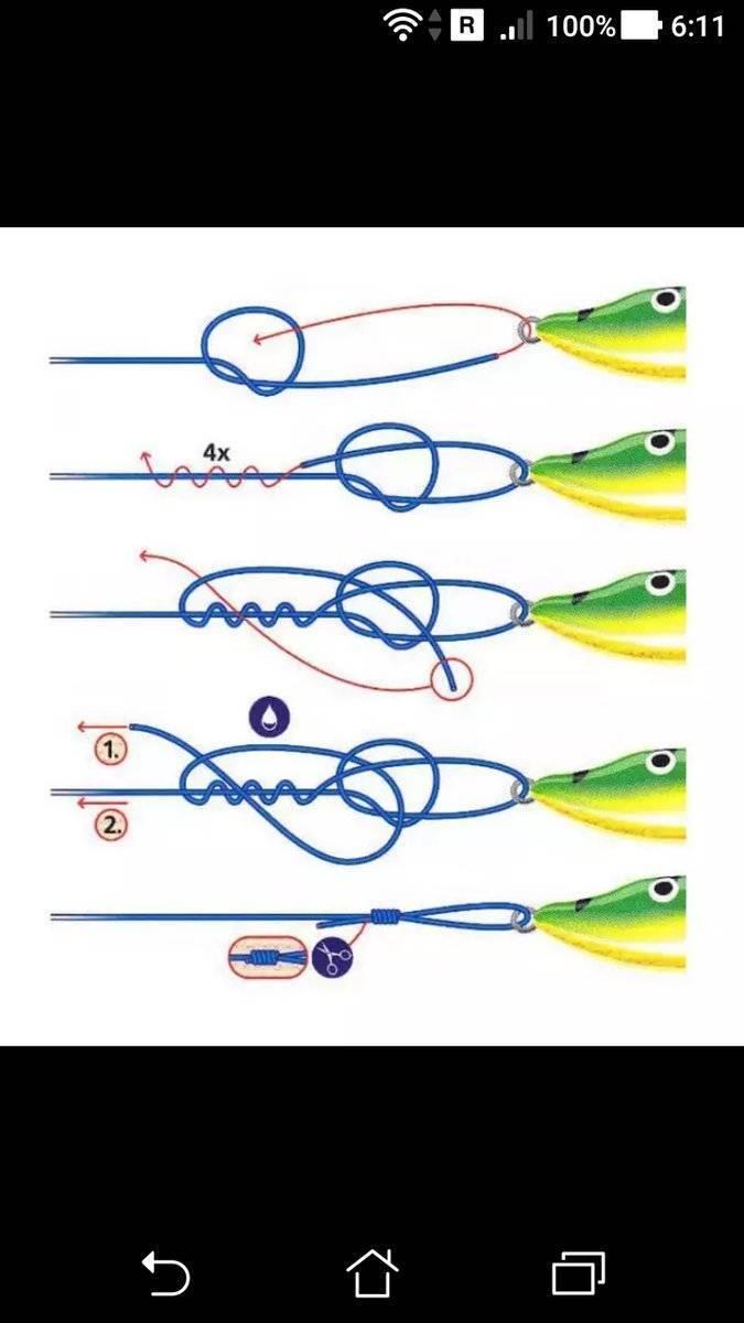 Как привязать блесну или воблер к леске или поводку: различные виды узлов и петлей