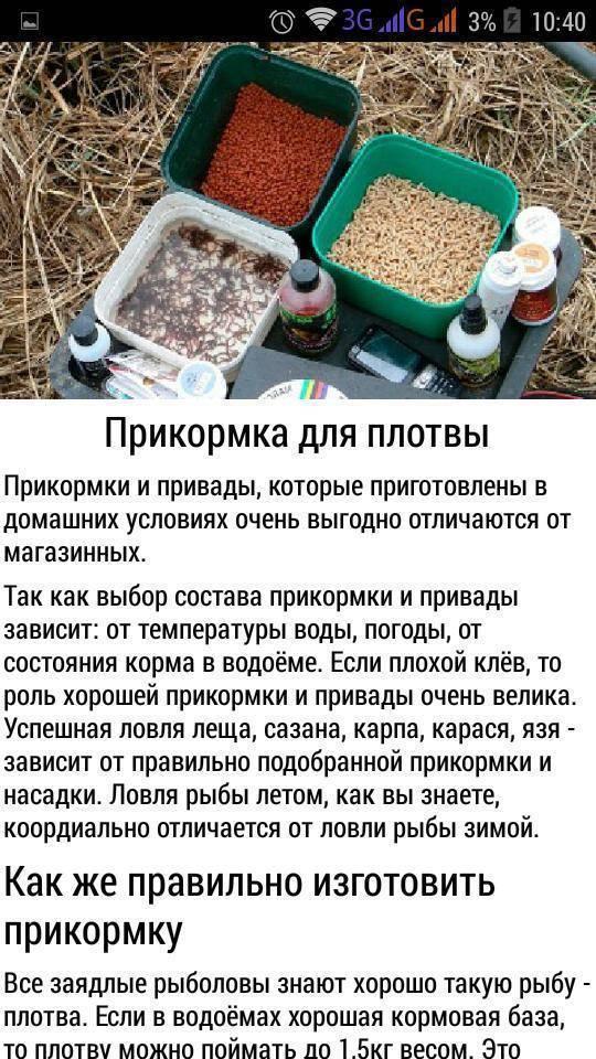 Прикормка для фидера - ключевые моменты приготовления и закорм