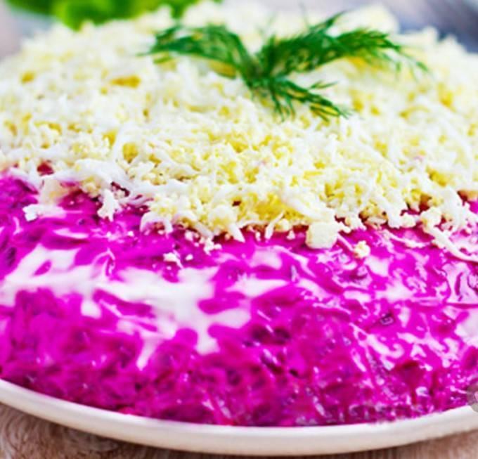 Салат сёмга под шубой