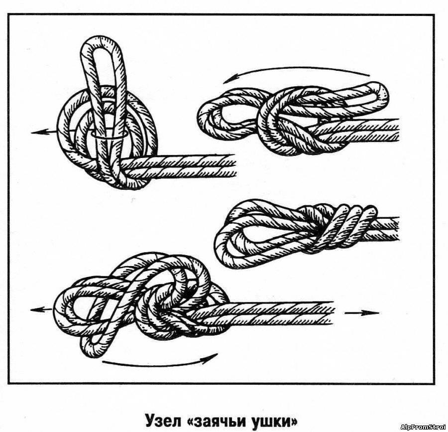 Морские узлы: назначение, классификация, схема вязания