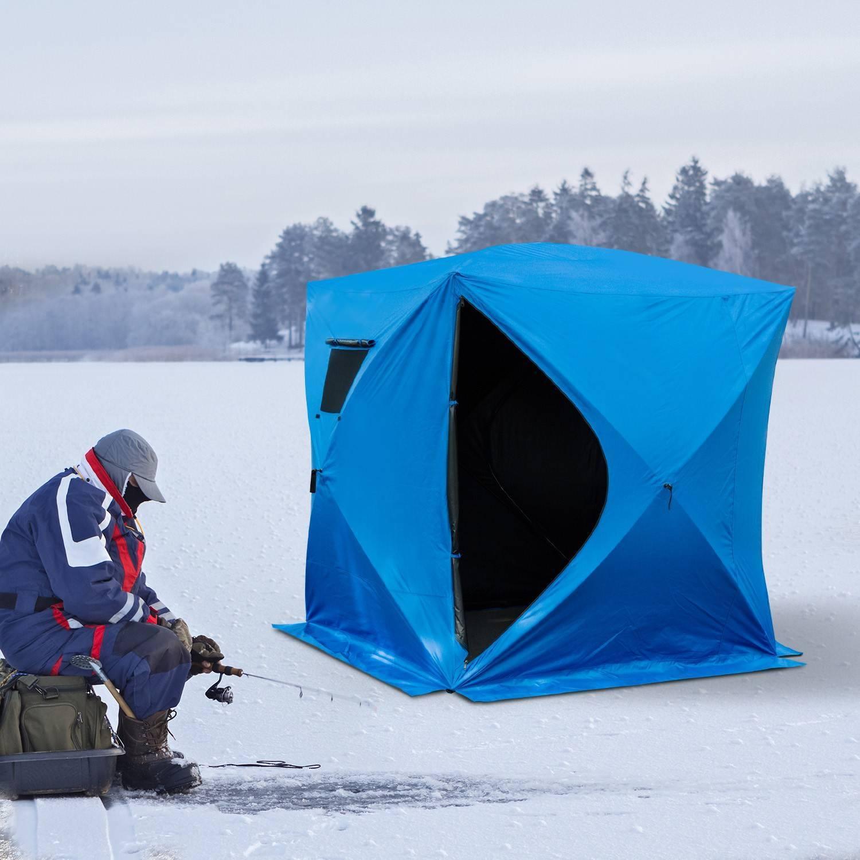 Как установить палатку для зимней рыбалки?