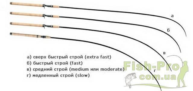 Что такое строй спиннинга: быстрый, средне быстрый и другие