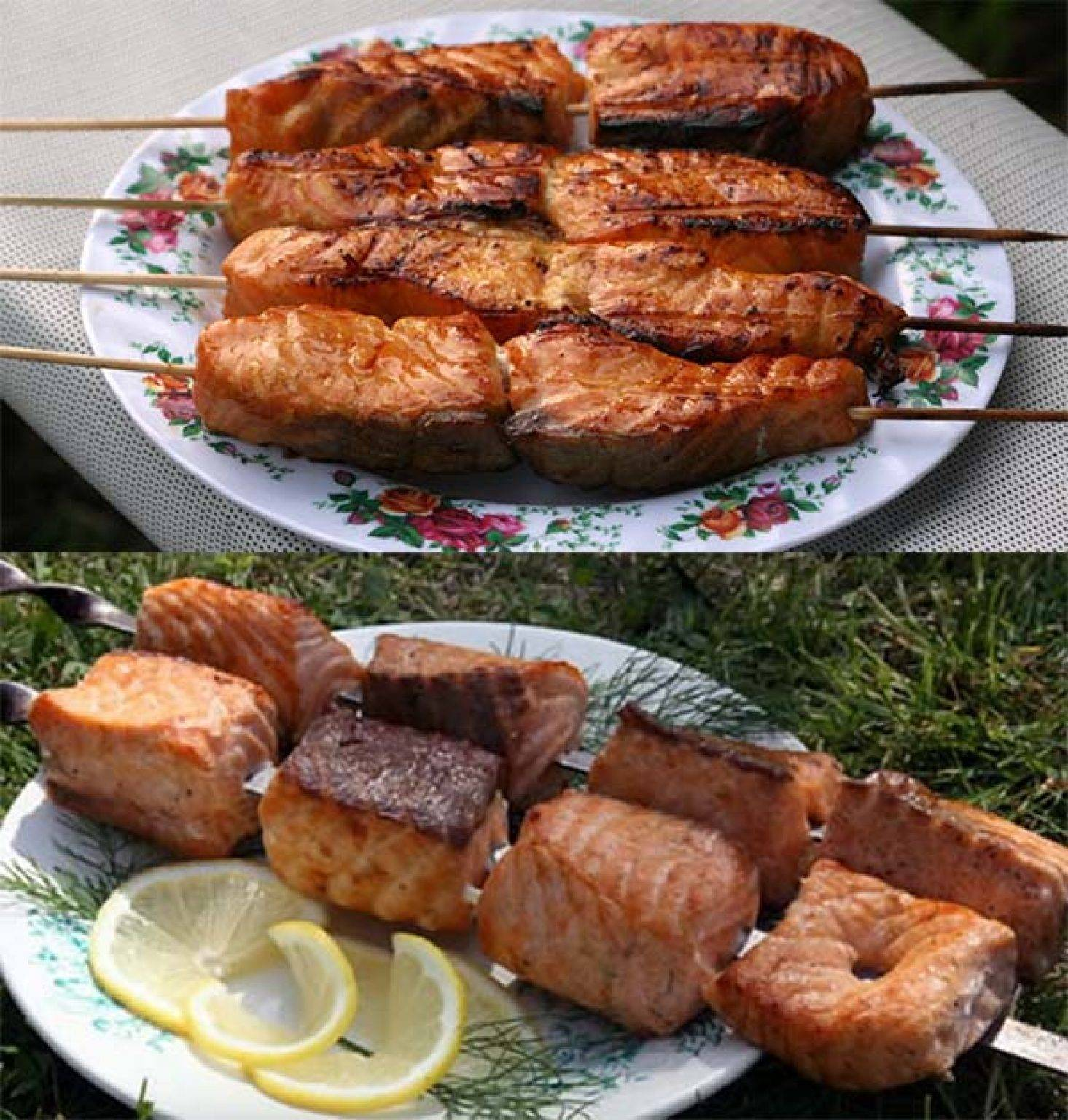 Шашлык из толстолобика на мангале - рыбалка