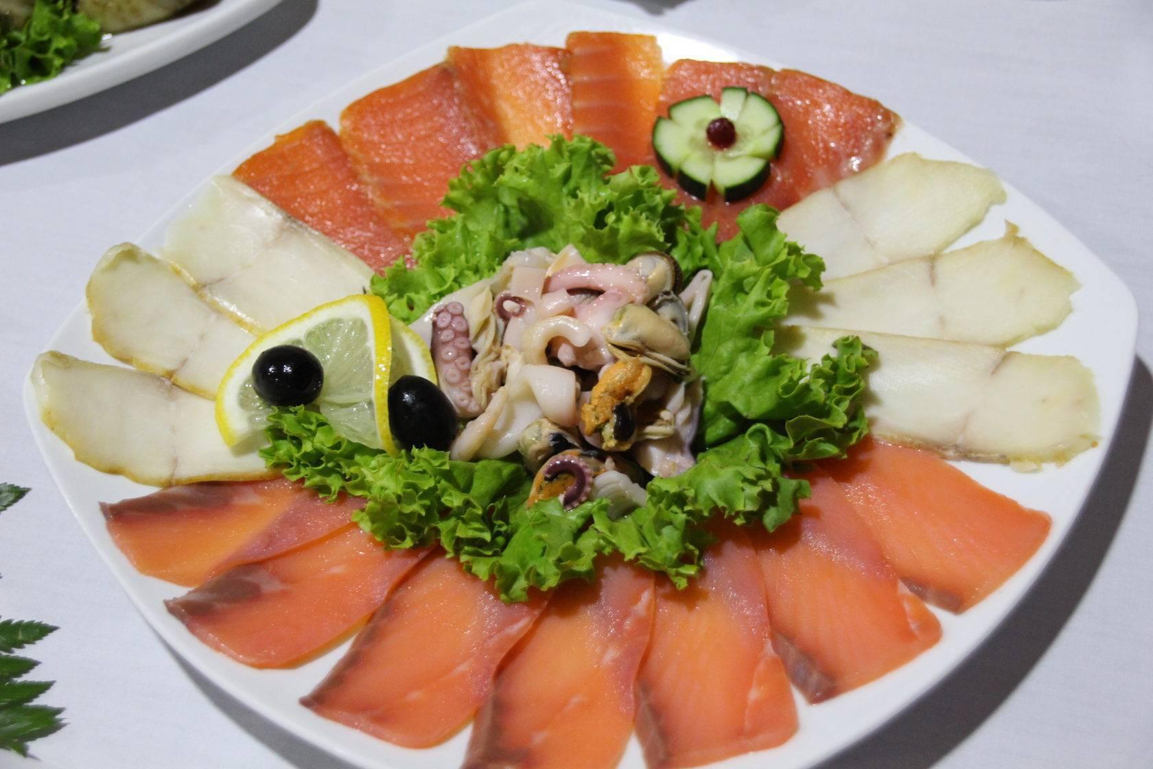 Рыбная нарезка на праздничный стол: фото, нарезка и оформление ассорти из рыбы