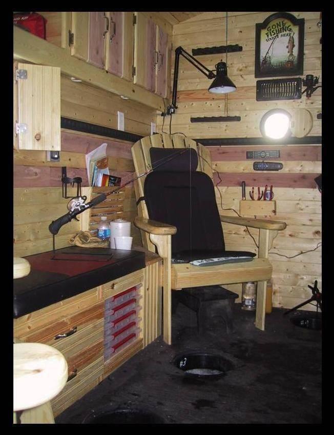 Передвижной домик для зимней рыбалки: комфорт и мобильность