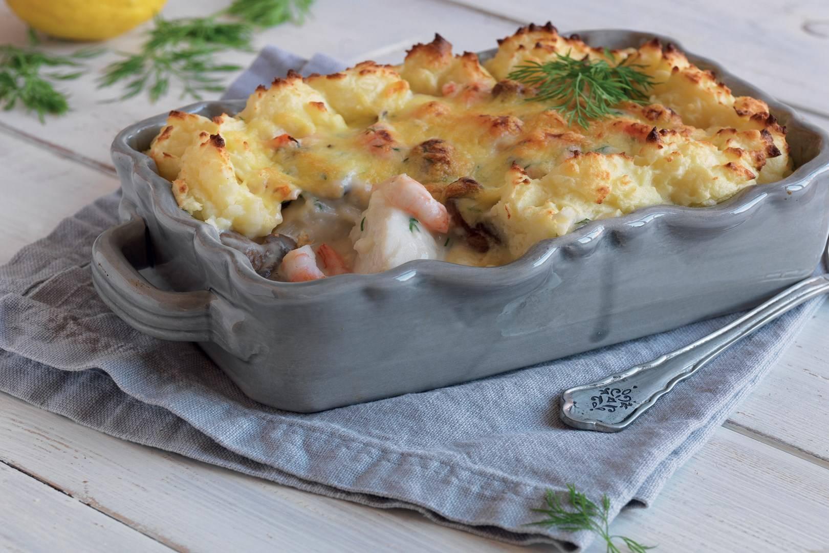 Картофельная запеканка с морским языком – кулинарный рецепт