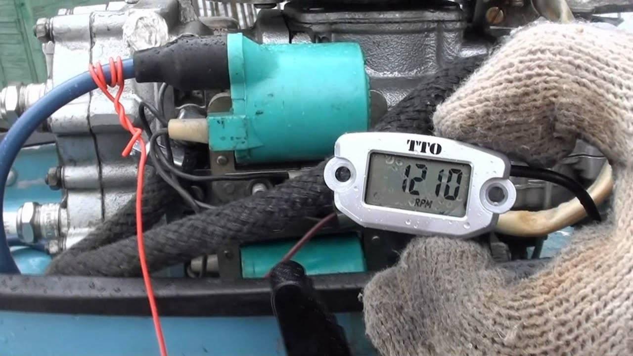 Подключаем тахометр на лодочный мотор своими руками