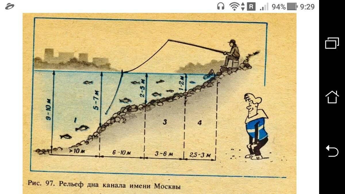 Изучение рельефа дна для ловли на фидер