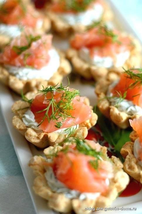 Тарталетки с красной икрой — 10 самых вкусных рецептов