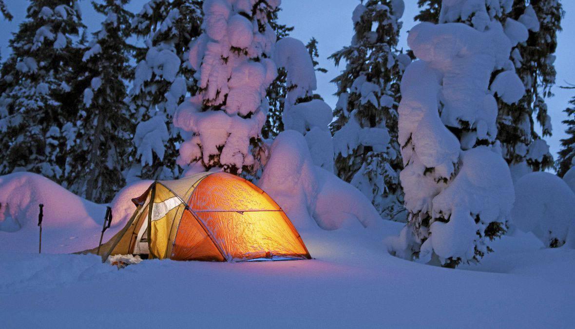 Применение тёплого пола для зимней палатки