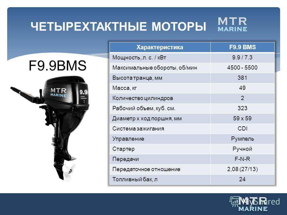 Характеристики лодочного мотора москва