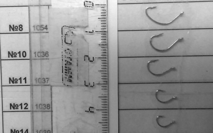 Какие бывают размеры рыболовных крючков