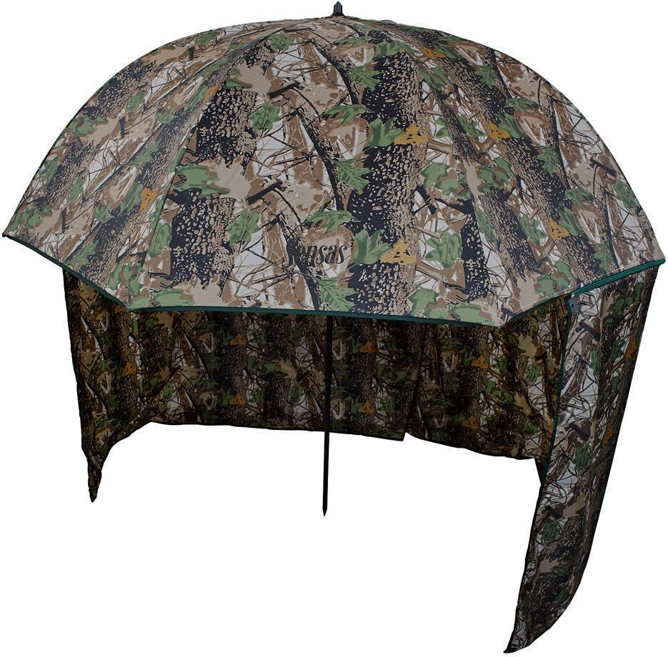 Палатки-зонты для рыбалки: рыбацкая палатка-зонтик с занавеской для летней рыбалки и другие модели