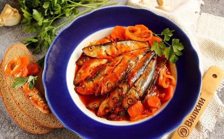 Килька в томатном соусе на зиму – 7 рецептов приготовления