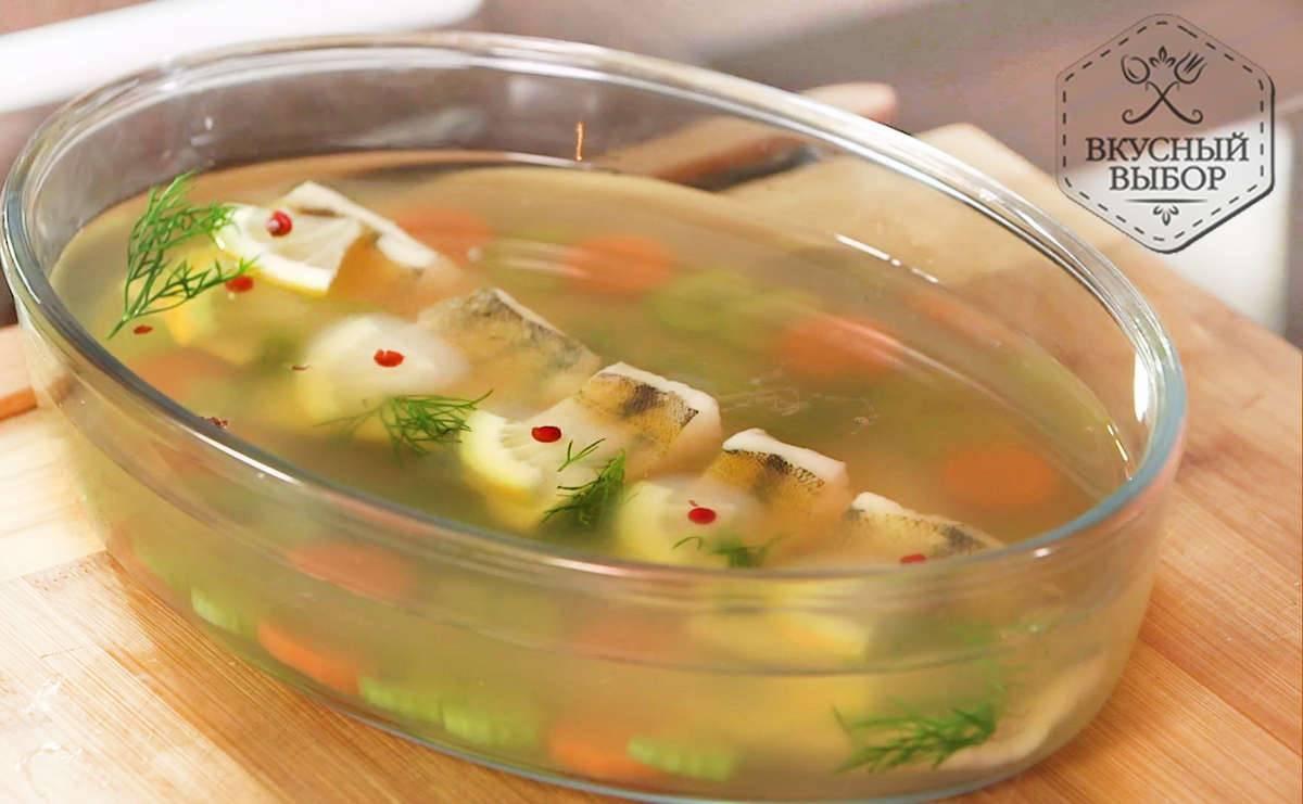 Заливное из рыбы — 10 простых и вкусных рецептов