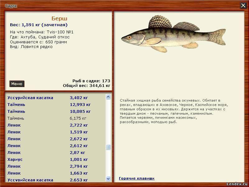 Список речной рыбы