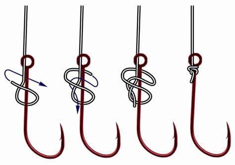 Как привязать крючок к леске: 29 узлов и разных способов