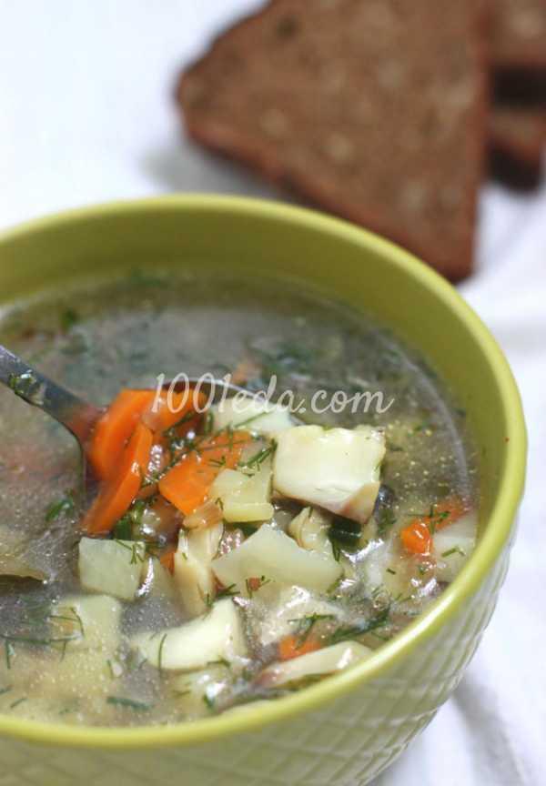 Рыбный суп из филе минтая с овощами — диетический рецепт