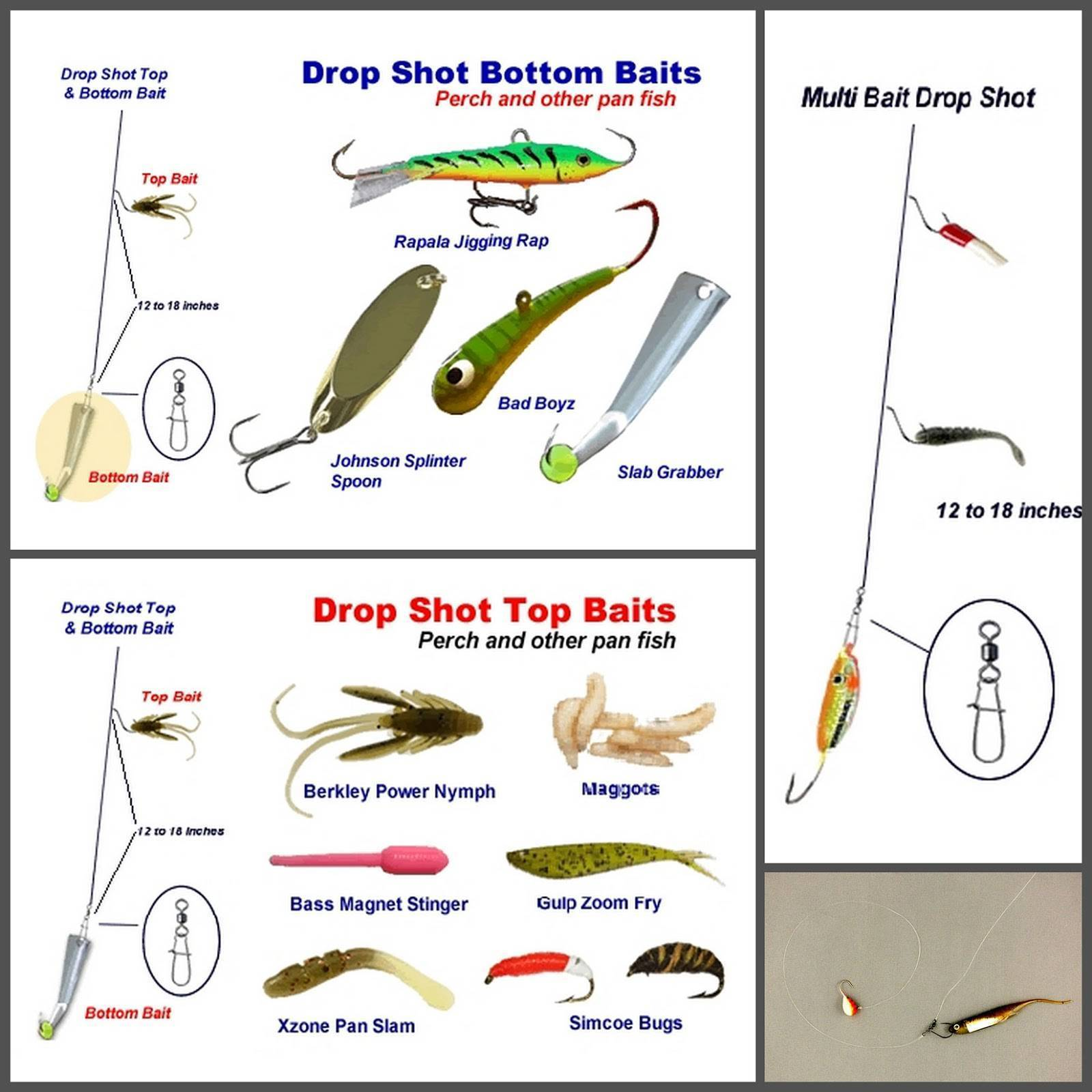 Оснастка дроп-шот для ловли хищника на ахтубе