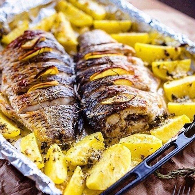 Окунь в духовке: как приготовить, рецепты запеченной рыбы в духовке с фото
