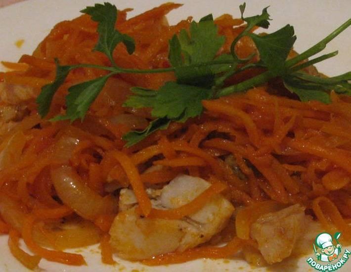 Минтай под маринадом из моркови и лука по простому пошаговому рецепту с фото