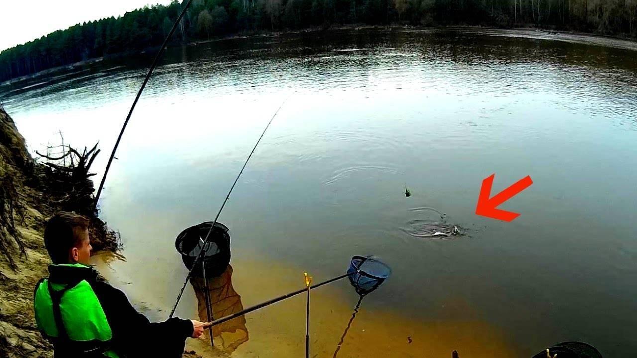 Ловля весной на фидер в реках с течением и в стоячей воде