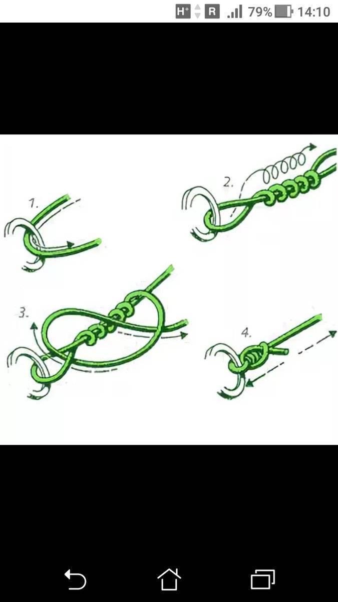 Как привязать мушку к леске
