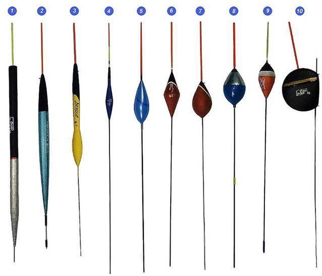 Поплавки для рыбалки - классификация по видам, условиям ловли
