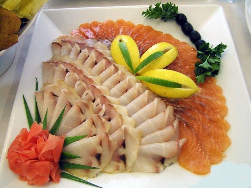 Рыбная нарезка на праздничный стол — красивое оформление, подача, фото