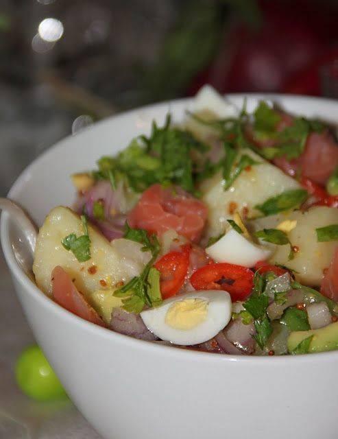 Рецепты салат с лососем и авокадо